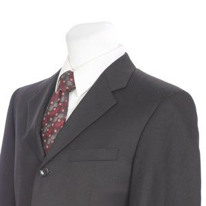 Jones New York Three Button Black Wool Sport Coat